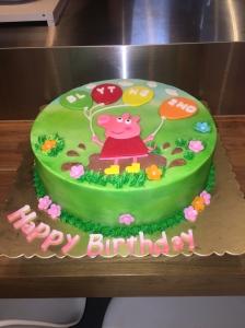 pegga pig and balloons